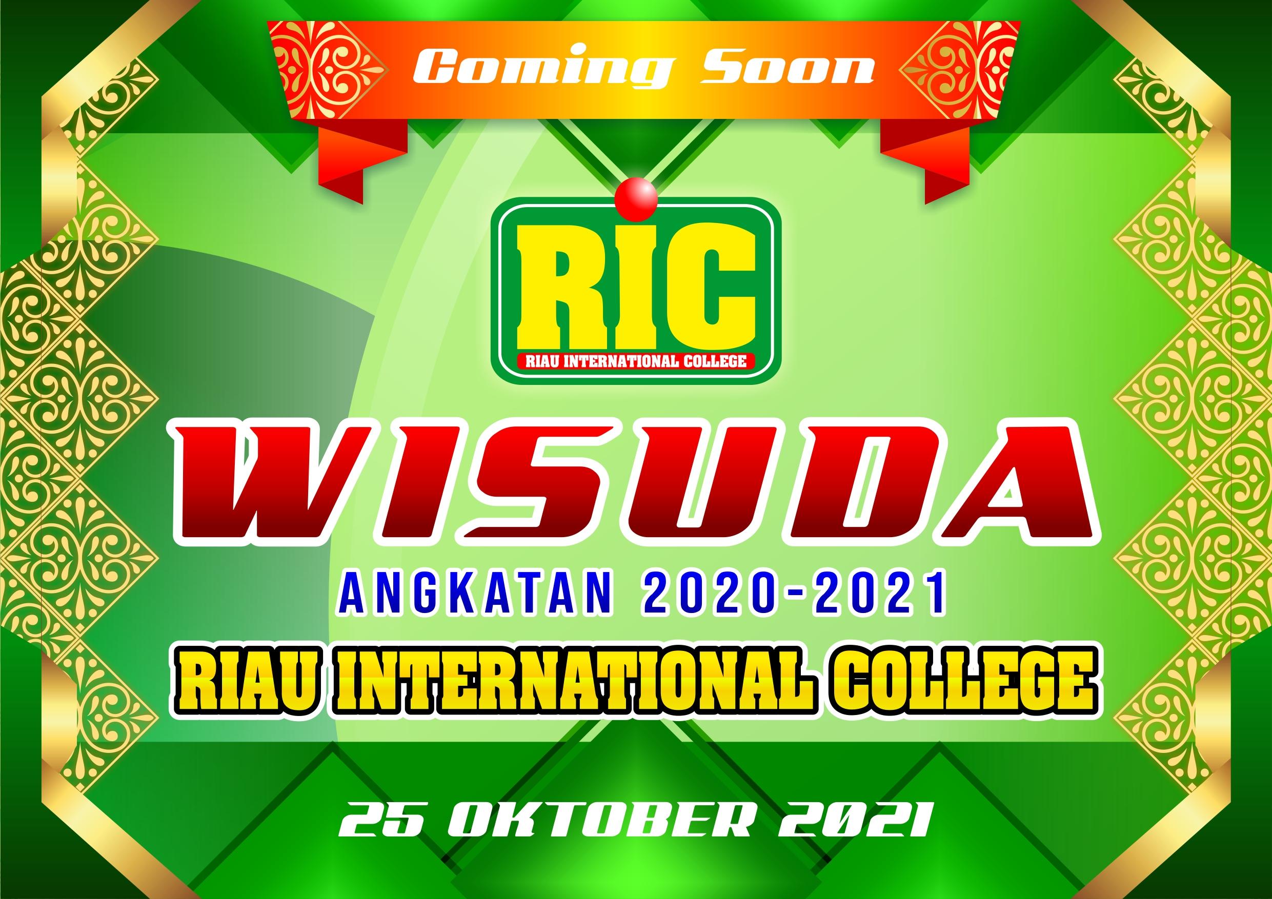 WISUDA MAHASISWA RIC T.A 2020-2021